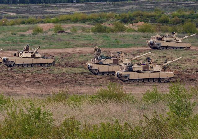 US troops with Abrams tanks. Poland (File)