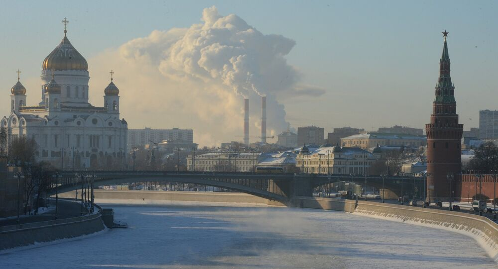 Freezing temperatures in Moscow