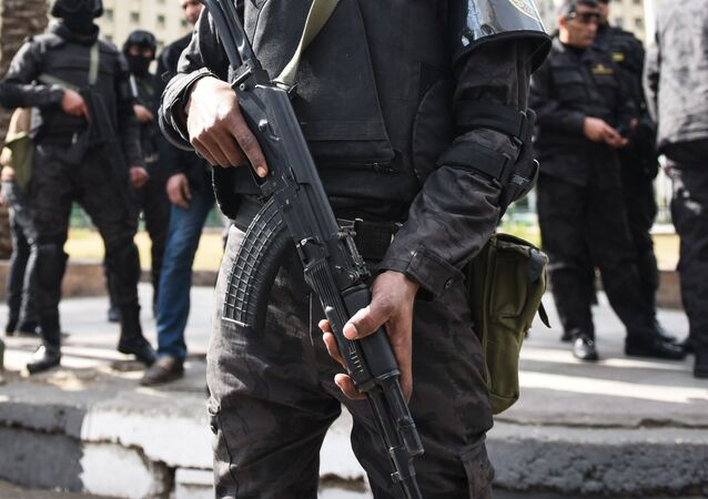 Members of the Egyptian police. (File)