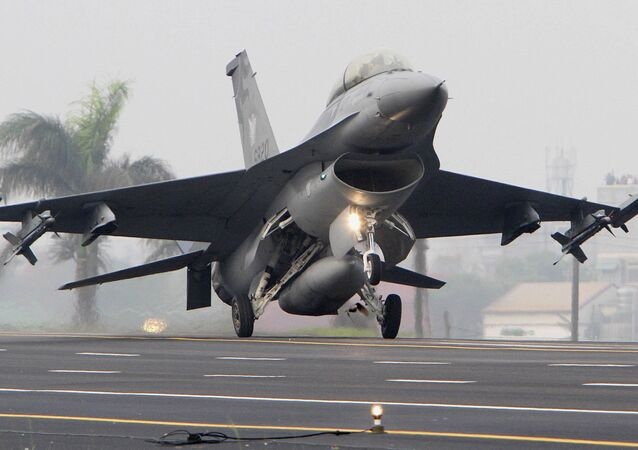 Taiwan Air Force F-16 fighter (File)