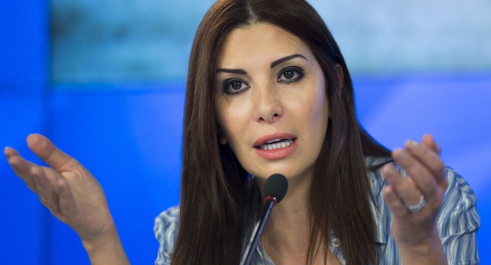 Franco-Syrian politician and leading figure of opposition to the Syrian government, Randa Kassis (File)