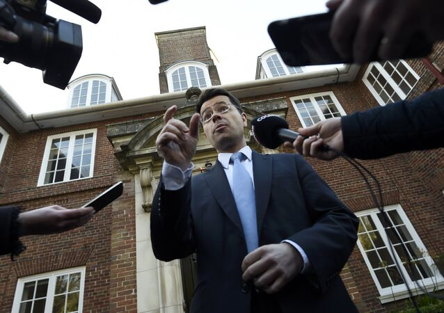 Britain's Secretary of State for Northern Ireland James Brokenshire speaks to media outside Stormont House in Belfast, Northern Ireland January 11, 2017