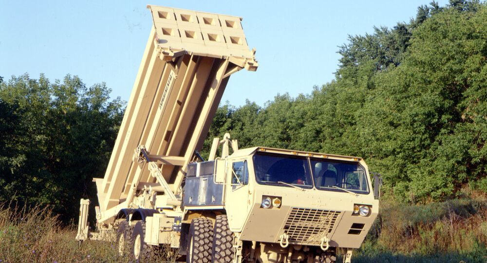The US Army's Terminal High Altitude Area Defense (THAAD) interceptor, coming soon to South Korea.