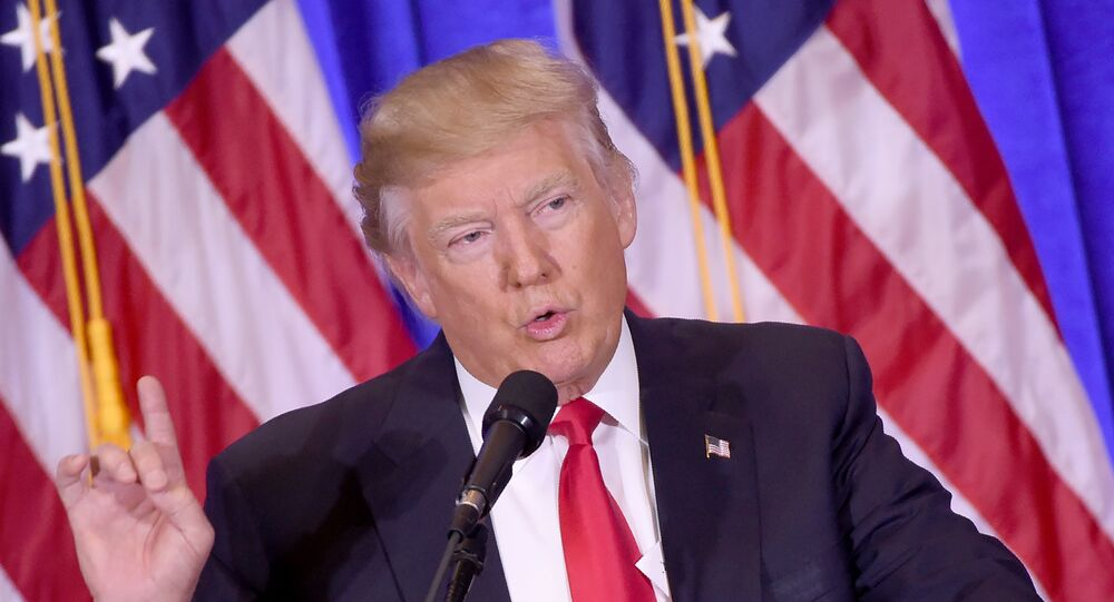 US President-elect Donald Trump gives a press conference January 11, 2017 in New York
