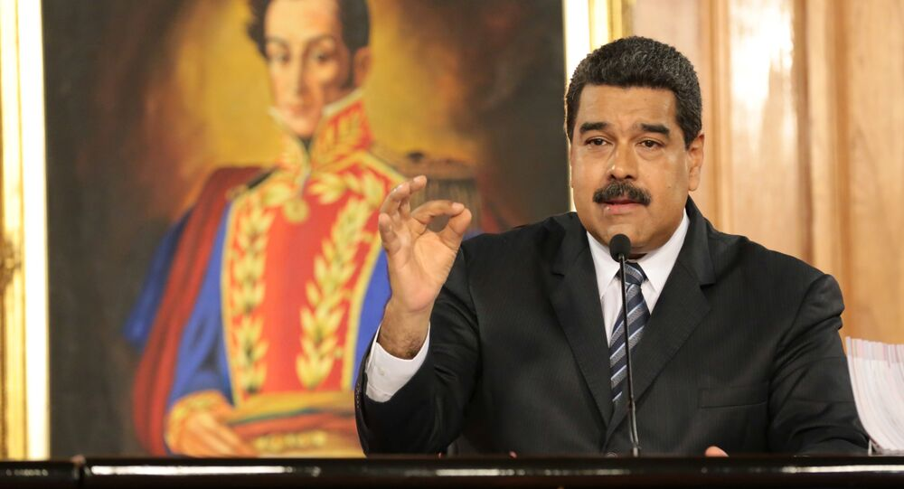 Venezuela's President Nicolas Maduro speaks during a meeting with businessmen in Caracas, Venezuela January 9, 2017