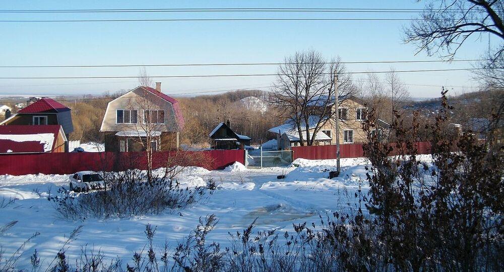 Homes in Russia's Khabarovsk Krai