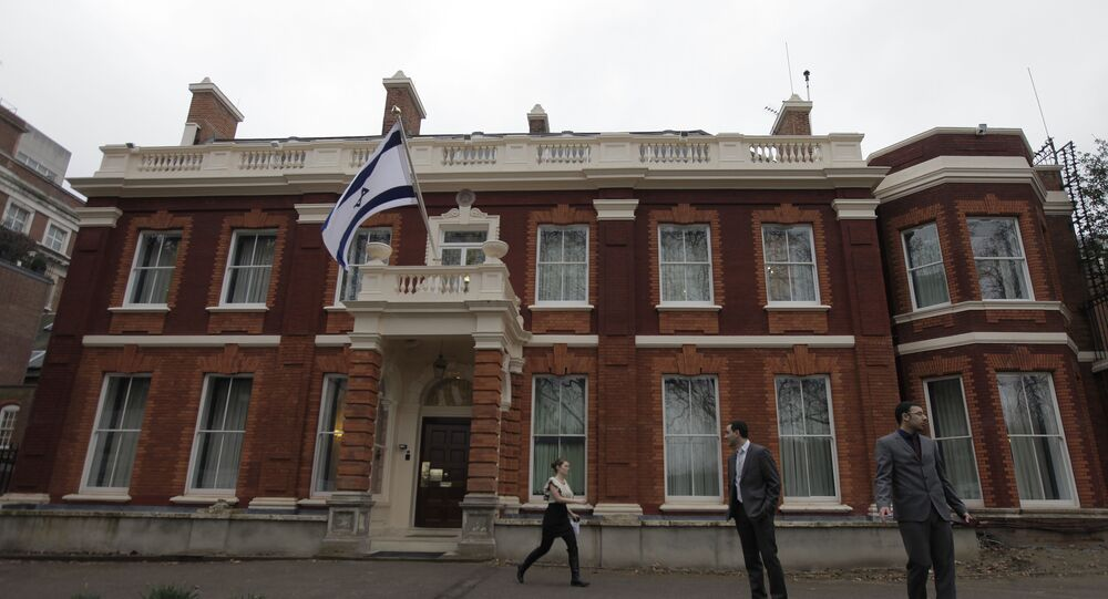 Israel's embassy in Britain is seen in central London, Tuesday March 23, 2010