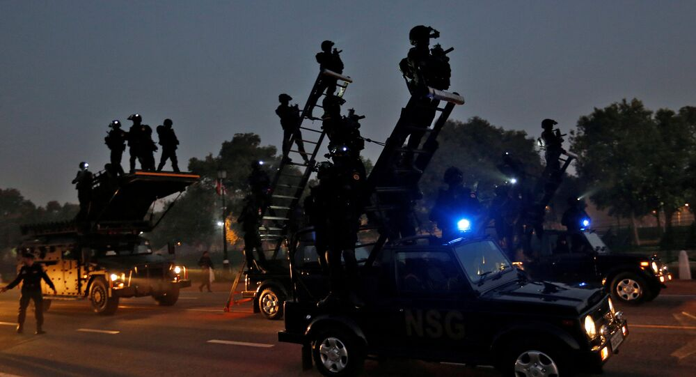 Commando's take part in a rehearsal for India's Republic Day parade in New Delhi, India January 10, 2017