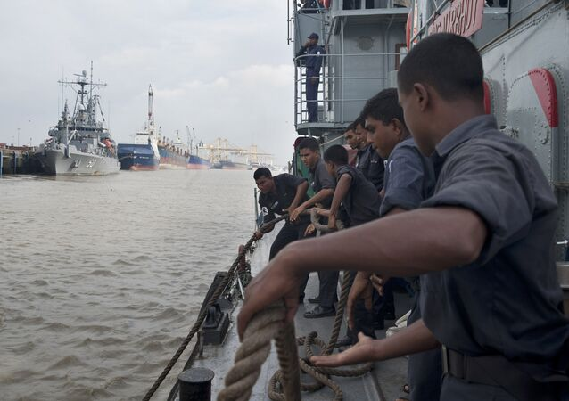 Bangladesh Navy Sailors prepare to get underway aboard the Bangladesh Navy Ship Nirbhoy (P-812) during Cooperation Afloat Readiness and Training (CARAT) 2012