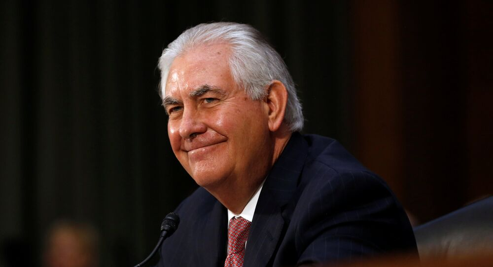 Rex Tillerson, the former chairman and chief executive officer of Exxon Mobil, smiles during his testimony before a Senate Foreign Relations Committee confirmation hearing on his nomination to be U.S. secretary of state in Washington, U.S. January 11, 2017