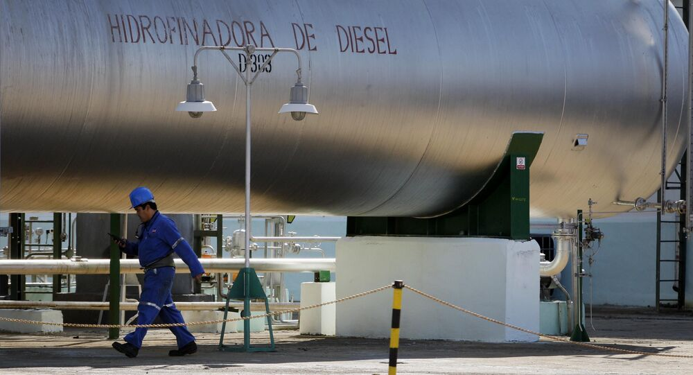 Francisco Otero, 41, walks inside the Camilo Cienfuegos oil refinery in Cienfuegos, Cuba (File)
