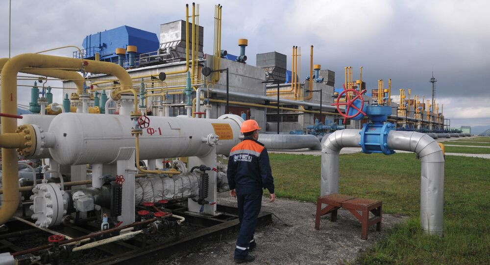 Ukrainian gas pumping station at Volovets in western Ukraine (File)