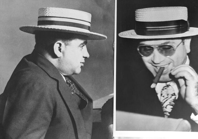 Famous Italian born US gangster Al Capone (1899-1947) is shown in portrait taken the day he was released from the Alcatraz prison, San Francisco, California, in 1939. He died in Florida in 1947.