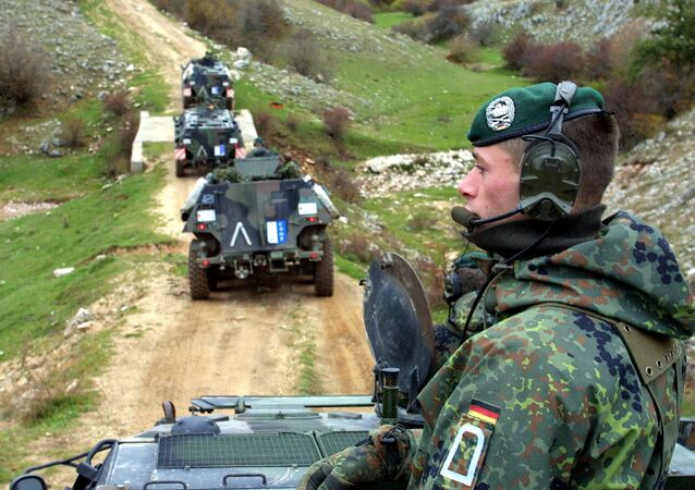 Bundeswehr troops operating as part of a NATO mission Bosnia, 2001.