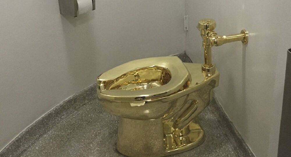 A fully functioning solid gold toilet, made by Italian artist Maurizio Cattelan, is going into public use at the Guggenheim Museum in New York