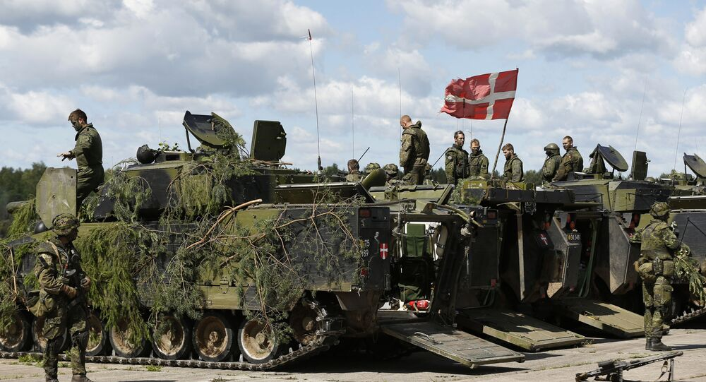 Danish soldiers during a military exercise