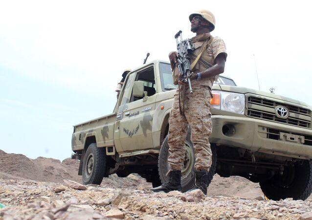 A Yemeni fighter. (File)