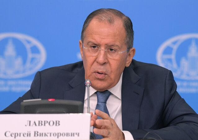 Moscow, Russia. News conference with Russian Foreign Minister Sergei Lavrov evaluating the 2016 performance of Russian diplomacy.