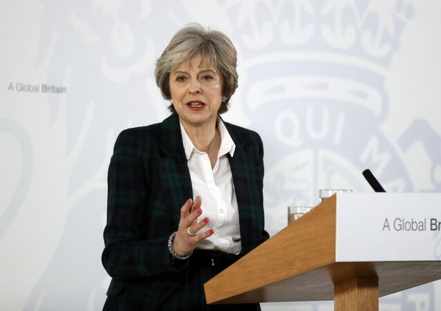 Britain's Prime Minister Theresa May delivers a speech on leaving the European Union at Lancaster House in London, January 17, 2017.