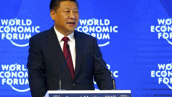 Chinese President Xi Jinping attends the World Economic Forum (WEF) annual meeting in Davos, Switzerland January 17, 2017. - Sputnik International