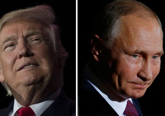 US President-elect Donald Trump (December 16, 2016 in Orlando, Florida) and Russian President Vladimir Putin (October 19, 2016 in Berlin)