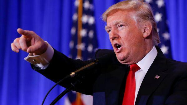 US President-elect Donald Trump speaks during a press conference in Trump Tower, Manhattan, New York, US, January 11, 2017. - Sputnik International