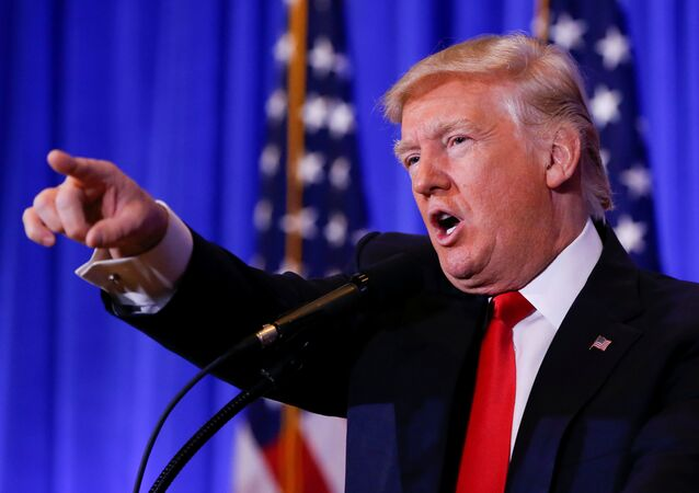 US President-elect Donald Trump speaks during a press conference in Trump Tower, Manhattan, New York, US, January 11, 2017.