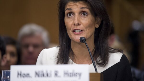 South Carolina Governor Nikki Haley testifies during her confirmation hearing for US Ambassador to the United Nations (UN) before the Senate Foreign Relations committee on Capitol Hill in Washington, DC - Sputnik International