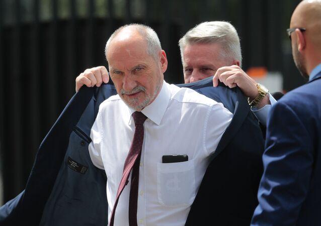 Polish Defense Minister Antoni Macierewicz (File)