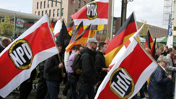 Supporters and members of the far-right National Democratic Party (NPD) (File) - Sputnik International