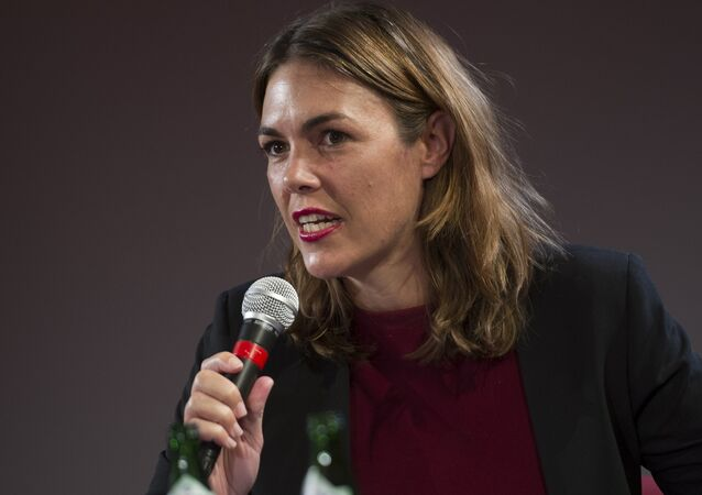 Australian criminal lawyer Melinda Taylor speaks during a press conference on the 10th anniversary of the online leaking platform WikiLeaks on October 4, 2016 in Berlin.