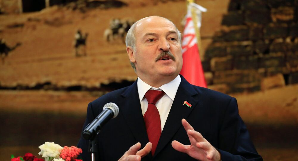 Belarussian President Alexander Lukashenko speaks during a joint news conference at the presidential palace at Khartoum, Sudan January 17, 2017