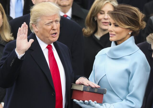 Donald Trump is sworn in as the 45th president of the United States