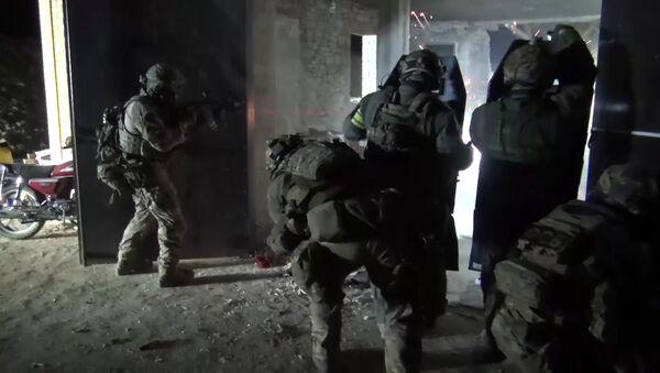 Law enforcement officers during a special operation in Dagestan. File photo - Sputnik International