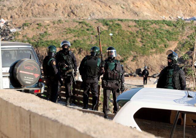 Spanish civil guards (File)