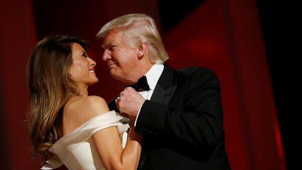 U.S. President Donald Trump and first lady Melania Trump attend the Liberty Ball in honor of his inauguration in Washington, U.S. January 20, 2017 - Sputnik International