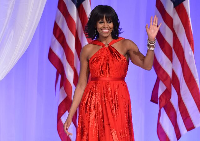 US President Barack Obama and First Lady Michelle Obama attend the Commander-in-Chief's Ball, honoring US service members and their families, at the Walter E. Washington Convention Center on January 21, 2013 in Washington, DC.