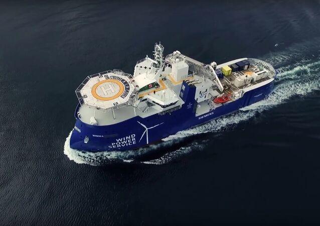 Norwegian Ships Shear Through The Waves