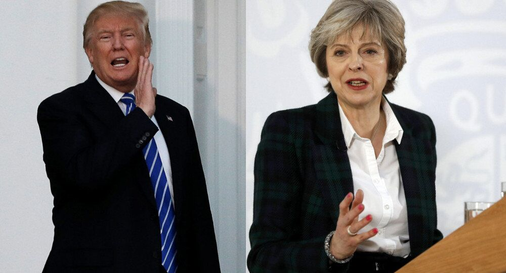 Donald Trump and Theresa May
