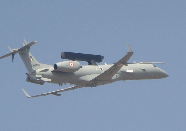DRDO AEW&C, on Embraer ERJ 145 as a platform, Fly pass at Aero India 2013