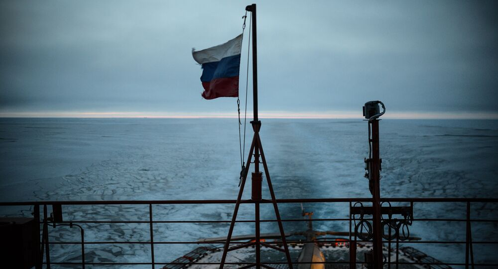 Russian Flag and Ocean. (File)