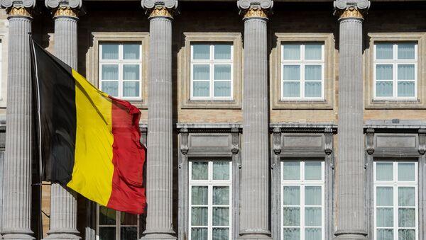 The Belgian flag flies outside the Belgian federal parliament in Brussels. (File) - Sputnik International