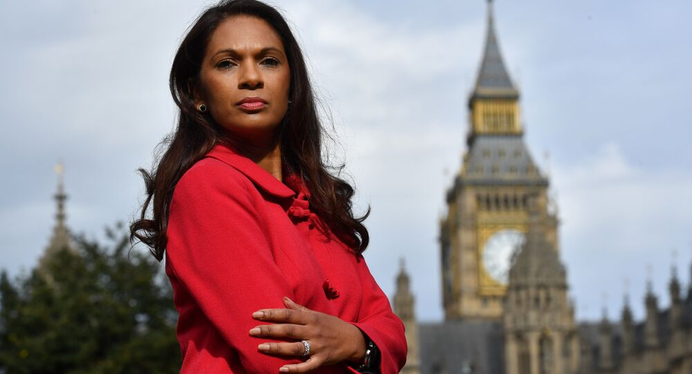 Gina Miller, co-founder of investment fund SCM Private, poses for a photograph near the Houses of Parliament in central London on October 12, 2016.