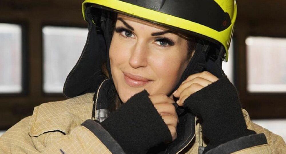 Female firefighter Gunn Narten from Norway