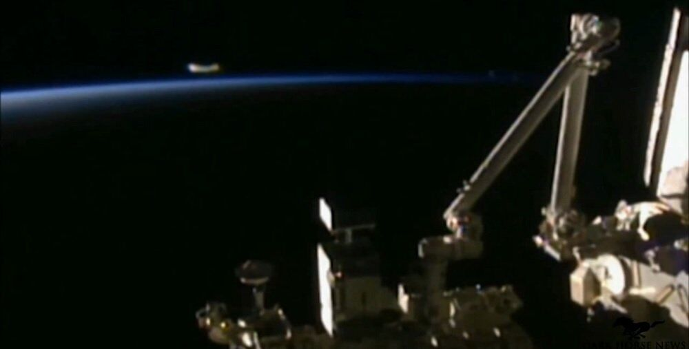 A strange object appeared on the ISS live feed for about 25 seconds.