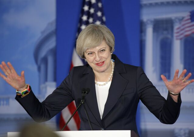 British Prime Minister Theresa May attends the Congress of Tomorrow Republican Member Retreat on January 26, 2017 at the Loews Philadelphia Hotel in Philadelphia, Pennsylvania.