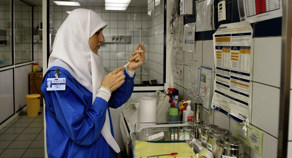 A nurse wearing a hijab (File)