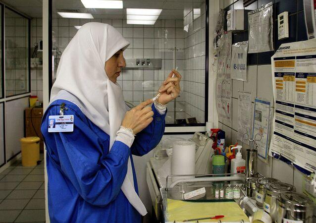 A nurse wearing a hijab (File)