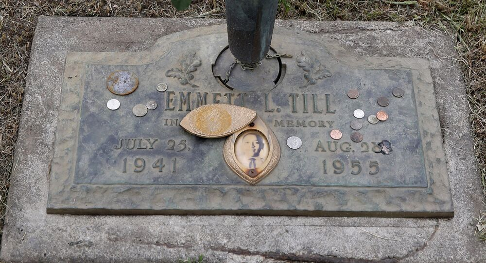 Gravesite of Emmett Till, whose 1955 lynching helped spark the Civil Rights Movement.