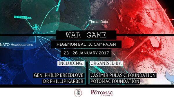 'War Game: Hegemon Baltic Campaign' promotional poster. - Sputnik International